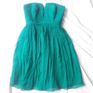 J Crew Nadia Strapless Dress in Silk Chiffon 2P
